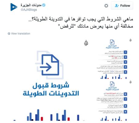 مدونات الجزيرة
